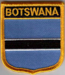 Botswana Embroidered Flag Patch, style 07.